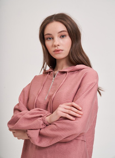Mizalle Youth Sweatshirt Pembe
